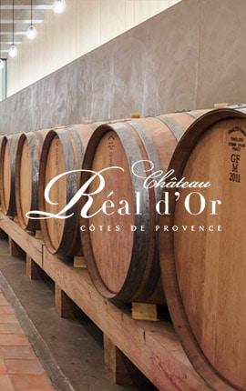 Tonneau vin Château Réal d'Or