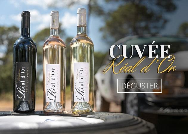 Cuvée Réal d'Or - Vin de provence AOP - Rouge, Rosé, Blanc